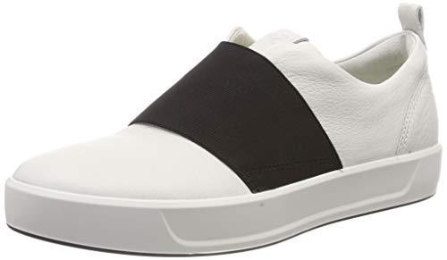 ECCO Damen Soft 8 Slip On Sneaker, Weiß (White 1007), 39 EU