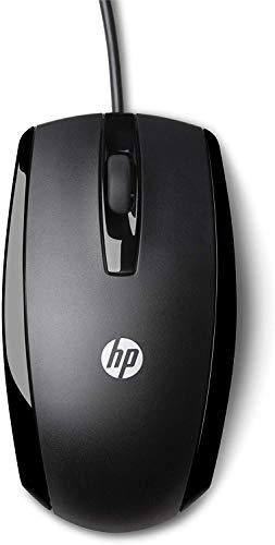 HP X500 (E5E76AA) Maus mit Kabel (USB, 800 dpi, 3 Tasten, Scrollrad) schwarz