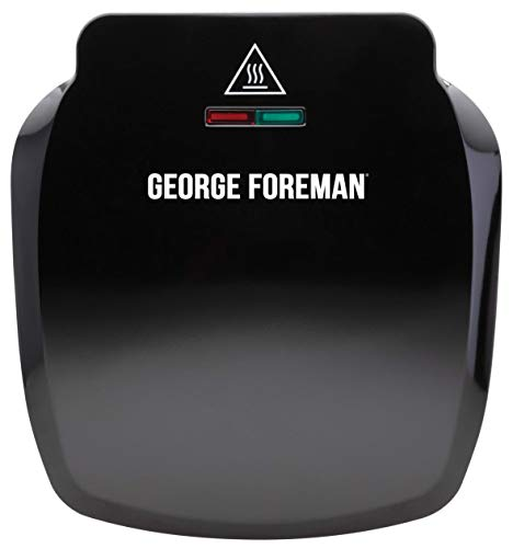 George Foreman Compact 2-Portion Grill 23400, Black