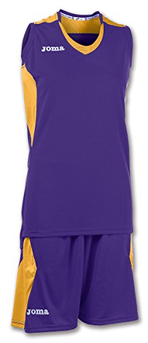 Joma Set Space Woman Basketball Set lila-gold Damen lila-gold, M (38)