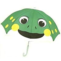 Fun Green Frog Umbrella By Brolly Pals Children