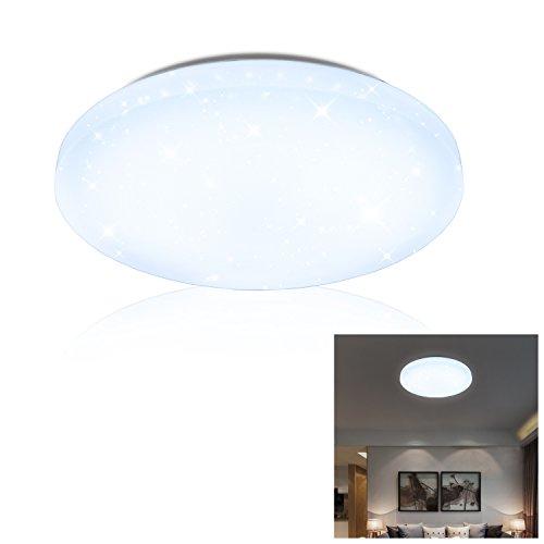 VINGO 12W LED Deckenleuchte Kaltweiß Starlight Effekt Schön Korridor Deckenlampe Wand-Deckenleuchte Badezimmer