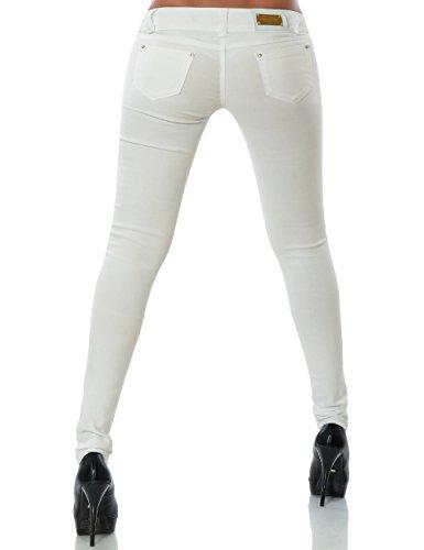 Damen Hose Treggings Skinny Röhre (weitere Farben) No 14205 Weiß