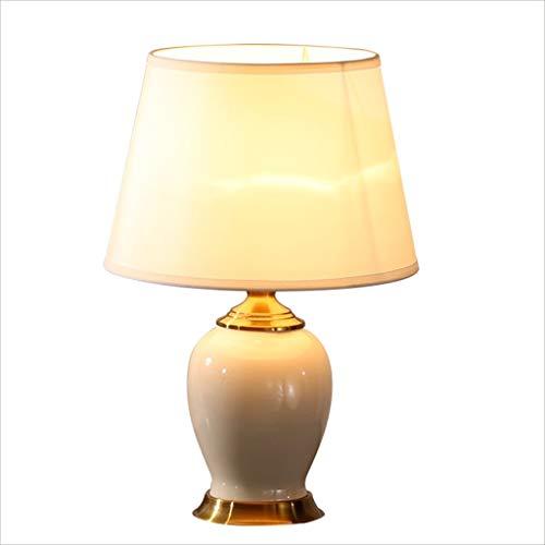 Schreibtischlampen Tischleuchten American Deluxe Keramik Tischlampe Schlafzimmer Nachttischlampe Hochzeit Raum Lampe warmes Weiß 53CM * 36CM Durable Tischlampe Tisch-&Nachttischlampen -