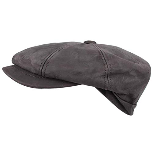 HORKA Kappe Nappaleder Braun Größe 57 Lederkappe Hut Schiebermütze Hatteras