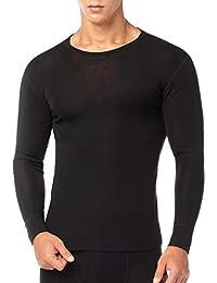 LAPASA Ropa Térmica para Hombre Pantalón/Camiseta/Conjunto de Lana Merino M31