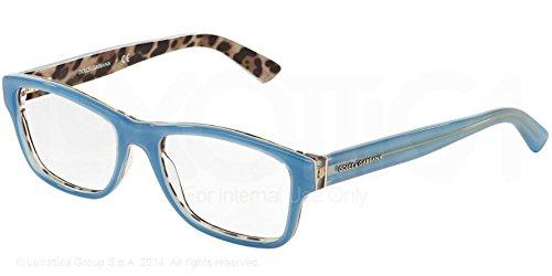Dolce & Gabbana Für Frau 3208 Opal Azure / Leopard Kunststoffgestell Brillen, 54mm (Leopard Gabbana)