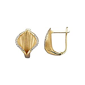 Diemer Gold Blüten-Ohrringe