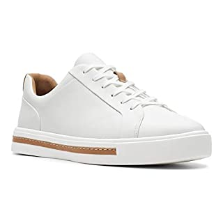 Clarks Damen Un Maui Lace Sneaker, Weiß (White Leather), 37 EU
