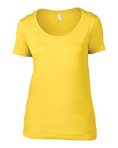 Anvil Frauen schiere Schaufel-T-Shirt Heather Dark Grey