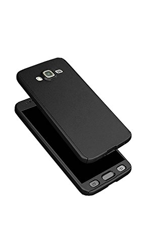 Dream2Cool(TM) 360 Degree Full Body Protection Front & Back Case Cover (iPaky Style) with Tempered Glass for Samsung Galaxy Grand Prime (G-530) Metal Black  available at amazon for Rs.279