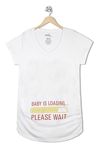 Acute Angle Maternity Tee Baby Loading please Wait
