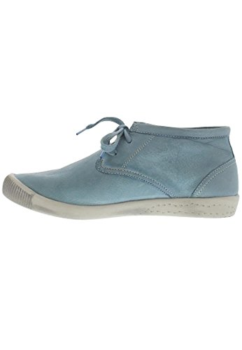 Softinos - Indira Washed Leather, Scarpe stringate basse derby Donna pastel blue