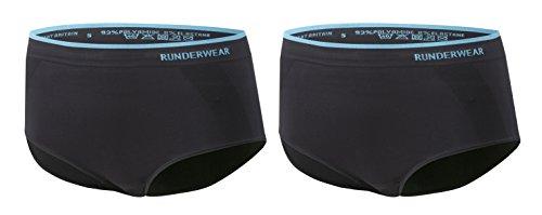 Runderwear Women's Briefs **2 Pair Pack** | Seamless, Chafe-Free Performance Running Underwear