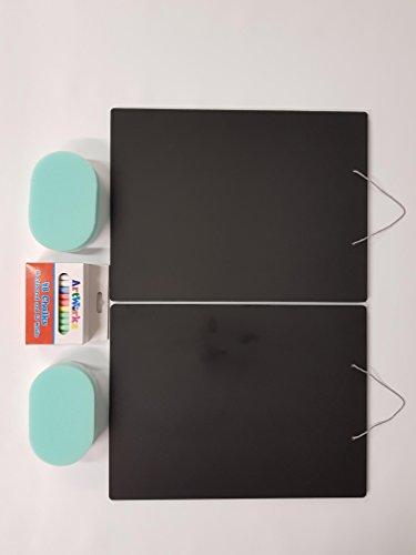 Kreidetafeln X 2Die Maßnahme 40cm x 30cm x 6mm dick. Beide Seiten in Tafel Malen. 48bunten Kreide Sticks und 2Schwämme im lieferumfang enthalten. Geeignet nur mit Traditionelle Kreide. Hochformat Code C40 (Wie Seiten Viele Tun)