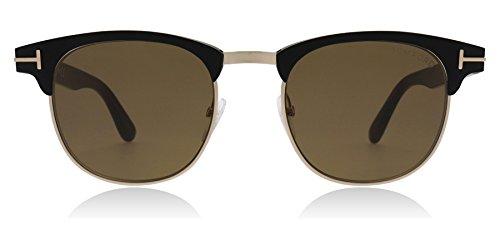 Tom Ford Unisex-Erwachsene FT0623 02J 51 Sonnenbrille, Schwarz (Nero Opaco/Roviex),