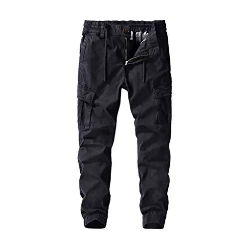 Aoogo Herren Washed Pocket Tooling Hose Neue Trend Bequeme Hose Beiläufige gefaltete Multi Taschen...