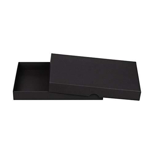 Natürlich verpacken Faltschachtel A5, Schwarz, Füllhöhe 25 mm, Deckel, Recyclingkarton, umweltfreundlich, für Fotos, Geschenke, Archiv - 10er Set Foto-archiv
