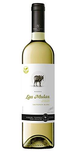 Las Mulas Sauvignon Blanc Vino Blanco - 750 Ml, Paquete De 6