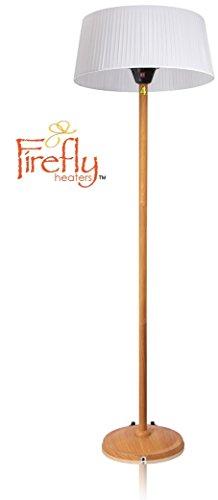 Primrose 2.100 Watt Firefly™ Infrarot-Heizstrahler (Halogen) Terrassenheizung, freistehend, 3 Leistungsstufen, Eichenoptik