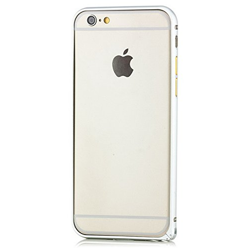 Saxonia. Aluminium Bumper + 2x Panzerglas Apple iPhone 6 / 6S Ultra Slim Alu Case Schutz Hülle Rahmen Schwarz Silber