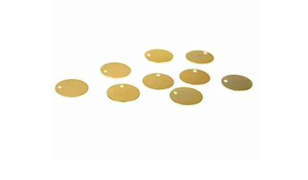 runde Anhänger als Plättchen in silberfarben platiniert 15mm 10 Stück DIY