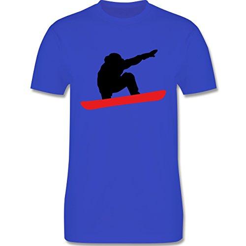 Wintersport - Snowboard Abfahrt Planke - Herren Premium T-Shirt Royalblau