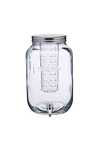 Kitchen Craft Home Made Glass Drinks Dispenser Jar with Water Infuser, 7.5 Litres - (Jar Kitchen Decor)