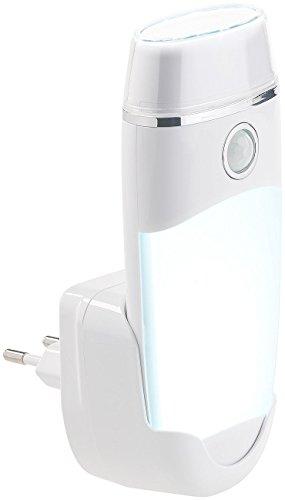 Lunartec Notlampe: 4in1-Multifunktions-Leuchte & Nachtlicht mit Akku & Induktions-Ladung (LED Nachtlicht) (Batteriebetriebene Ladestation)