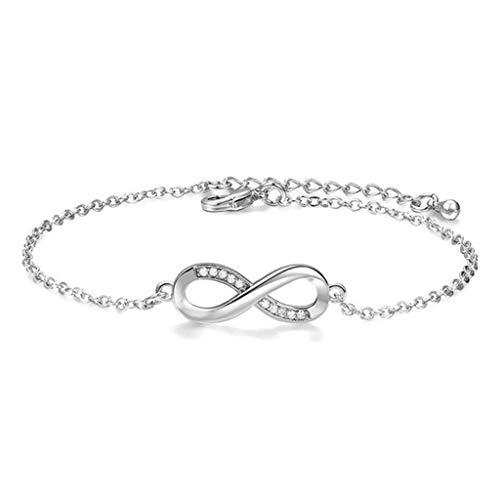itszeichen Armband in Silber mit funkelnden Schmucksteinen | Handmade mit Zertifikat | Geschenk für besondere Anlässe ()