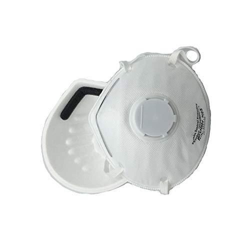 Jadeshay Maschera Anti-inquinamento - Maschera Antipolvere monouso Respiratore n95, Maschere PM2.5 con valvola per Uso Domestico Professionale, 15Pcs