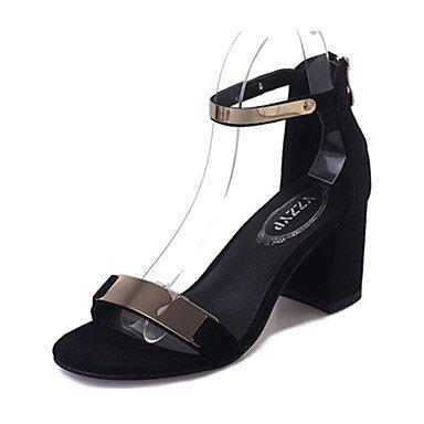 LFNLYX donna tacchi Primavera Estate Autunno Comfort PU Casual tacco basso altri grigio nero altre Gray