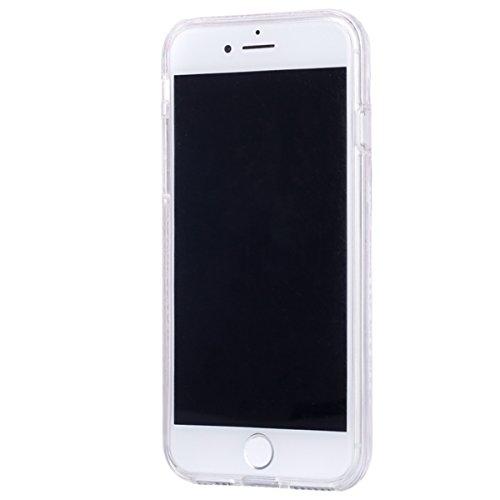 2017 Ekakashop iphone 7 4.7 pollici Custodia, 2-in-1 ultra sottile-Fit molle flessibile di caso Cover posteriore per iphone 7, Ragazza Ragazzo Crystal Clear Soft Cover gel TPU Silicone Protezione Sott B #6