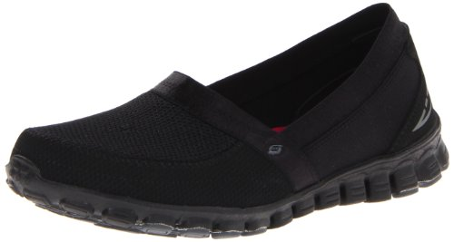 Skechers Womens Easy Flex Shoes, Black, 3 UK