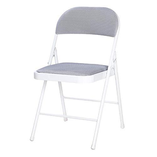 QIDI Chaise pliante Chair Chaise de bureau Chair Chaise d'ordinateur Chaise de salle à manger Métal Facile à transporter, capacité de charge élevée Économisez de l'espace Facile à nettoyer - Deux pers