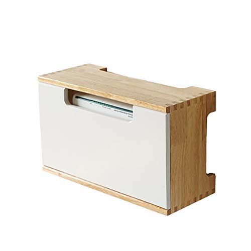 JF-TVQJ TV Hintergrund Wand Massivholz Set-Top-Box Rack, Wohnzimmer Steckdose WiFi-Kabel Finishing-Box -30 * 12,5 * 18cm. (Kabel-tv-set-top-box)