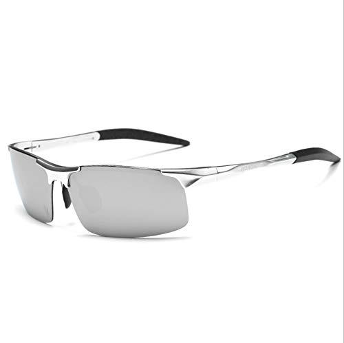 Sport Polarisierte Sonnenbrillen für Männer, Frauen Fahren Angeln Laufen Reiten Radfahren Wayfarer UV-Schutz Sonnenbrille mit Brille Tuch,Silver/discolour