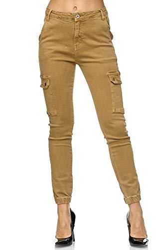 Elara Pantalones Carga Slim Fit Mujer | Jeans Denim