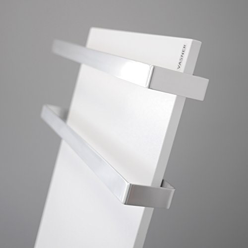 VASNER Aluminium Handtuchhalter  Handtuchwärmer Set  Infrarotheizungen Citara Glas Metall Bild 3*