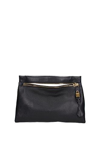 Bolso de Mano Tom Ford Mujer Piel Nero L0677TGLTBLK Negro 9x27x40.5 cmEU