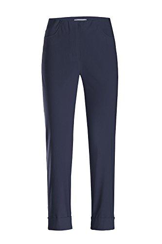 Stehmann - Stretchhose Igor 680 - mit EXTRA-Fashion Armreif - Umschlag und Gesäßtaschen - Schmale Pull-On Hose, Hosengröße:40, Farbe:Marine - dunkelblau