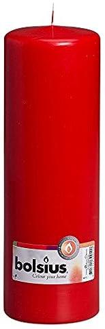 BOLSIUS RED PILLAR CANDLE - 250x80mm
