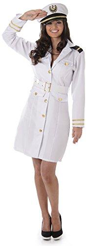 Gentlemans Offizier Kostüm - Karnival 81059Navy Officer Girl Kostüm, Frauen, weiß, extra groß