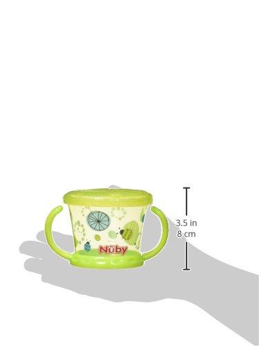 Nuby Snack Keeper–Bol avec rabat souple, Couleur Vert