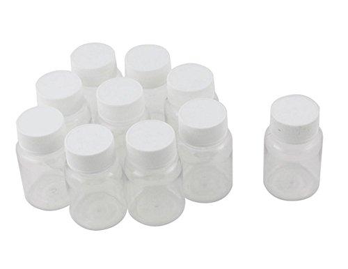 zylindrische Chemikalien-Flaschen aus Kunststoff, medizinische Flasche, Reagenz-Behälter für Reisen und Zuhause, 80 ml, 12 Stück ()