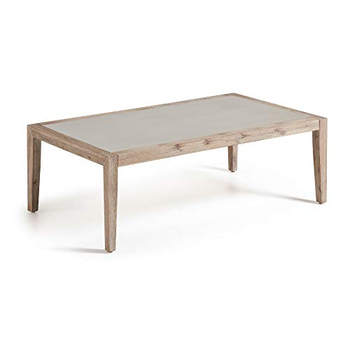 Kave Home - Table Basse Vetter en Ciment et en Bois