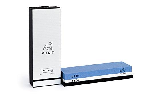 Premium Schleifstein zur schonenden und effektiven Schärfung hochwertiger Messer - Erstklassige Qualität - Optimaler Wetzstein und Abziehstein - Körnung 240/800 - inklusive Zufriedenheitsgarantie*