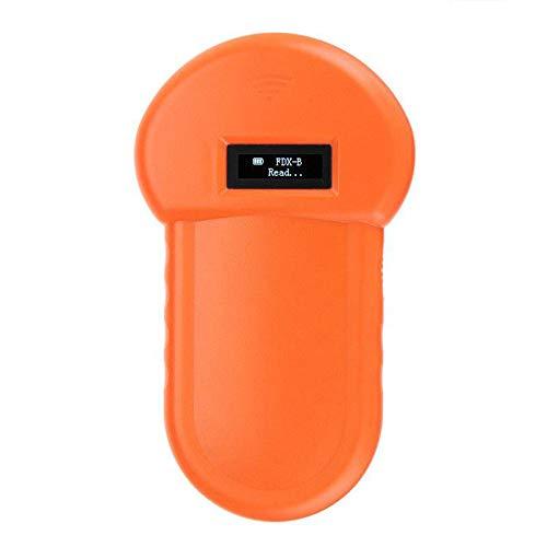 NUOBURBH RFID 134.2Khz ISO FDX-B Tierchip Hundeleser Mikrochip Handtier Scanner, USB USB-LadevorgangTier ID Leser Eingebauter Summer und LCD, für Haustier Identifikations Management