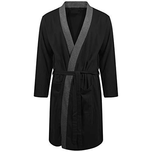 ebf09c4bcbd6e Best Deals Direct UK Insignia Hombre Batas Lighweight Algodón Jersey  Vestidos - Negro Borde, L