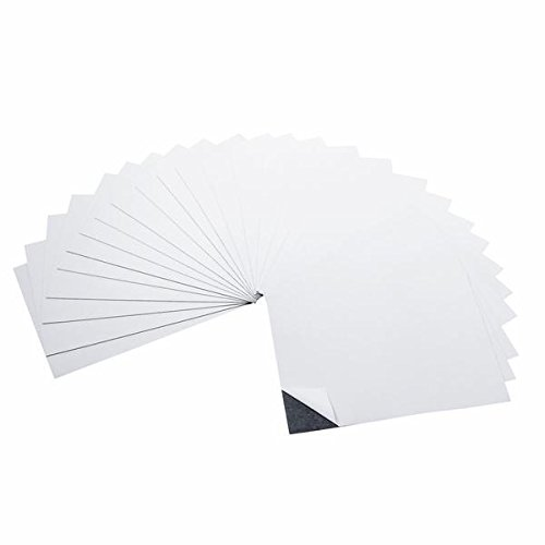 totalelement 12,7x 17,8cm Starke Flexible Selbstklebende Magnetische Blatt abziehen & Aufkleben Kühlschrank Magnet Blatt (25Stück)